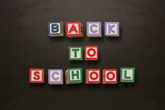 Back to school message in blocks Royalty Free Stock Photo