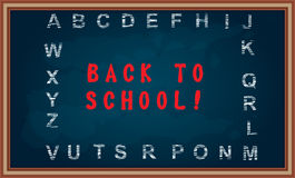 Back to school message on chalkboard Stock Image