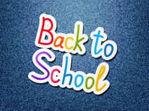 Back to school message on jeans Royalty Free Stock Images