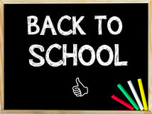 Back to School message and Like sign Stock Photography