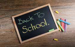 Back to school message memo reminder Royalty Free Stock Photo