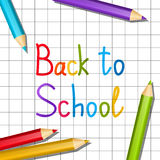 Back to school message Stock Photos