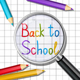 Back to school message Stock Image