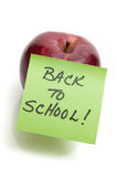 Back to School Message Royalty Free Stock Image