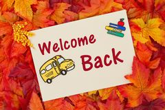 Back to School greeting card Royalty Free Stock Photo