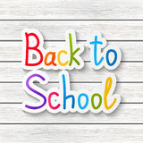 Back to school message Royalty Free Stock Images
