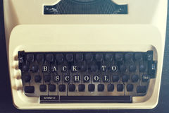 Back to school message Stock Photo