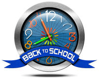 Back to School - Metal Icon Stock Images