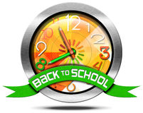 Back to School - Metal Icon Royalty Free Stock Image