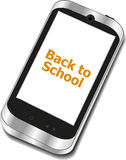 Back to School, Mobile Phone with Back to School words isolated on white Stock Photos