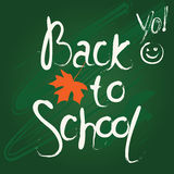 Back to school mood design Royalty Free Stock Photos