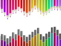 Back to school with multicolored pensils. EPS10 Royalty Free Stock Photos