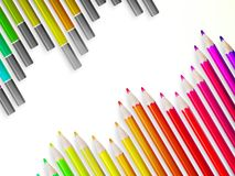 Back to school with multicolored pensils. EPS10 Royalty Free Stock Images