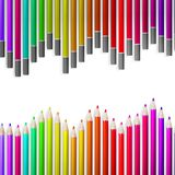 Back to school with multicolored pensils. EPS10 Stock Photography