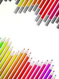 Back to school with multicolored pensils. EPS10 Stock Images