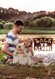 Back to school in nature Royalty Free Stock Images