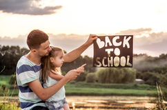 Back to school in nature Stock Images