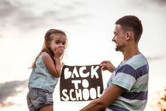 Back to school in nature Royalty Free Stock Image