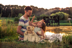 Back to school in nature Stock Image