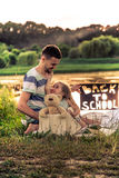 Back to school in nature Royalty Free Stock Photography