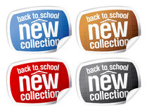 Back to school - new collection stickers. Back to school - new collection stickers set Stock Photos
