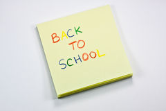 Back to school note Royalty Free Stock Images