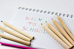 Back to school note Stock Images