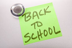 Back to school note Stock Photo