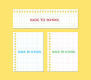 Back to school note paper Royalty Free Stock Photo