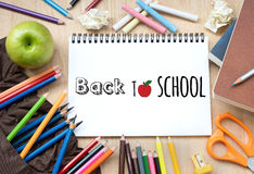 Back to School on note paper Stock Image