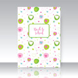 Back to school, notebook cover, seamless pattern included Stock Image