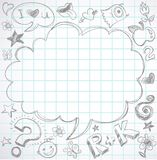 Back to school - notebook with doodles vector illustration