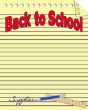 Back to School Notebook Paper Background Stock Image