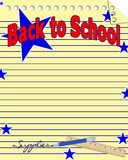 Back to School Notebook Paper Background Stock Photo