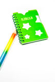 Back to School notebook and pencil Royalty Free Stock Images
