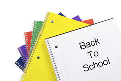 Back To School Notebooks Royalty Free Stock Image