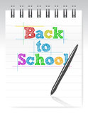 Back to school and notepad Royalty Free Stock Photo