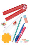 Back to school objects. Isolated on white background Stock Photo