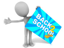 Back to school offer Royalty Free Stock Photo
