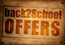 Back to school offers Royalty Free Stock Images