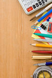Back to school and office supplies Royalty Free Stock Images