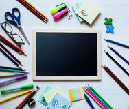 Back to school and office supplies background Stock Photos