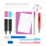 Back to School or office tools on white background Stock Photography