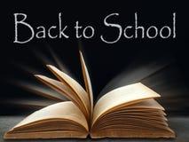 Back To School On Black Board Stock Photo