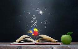 Back to school open book royalty free stock photo