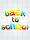 Back to school over squared sheet Stock Image
