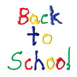 Back to school in paint Royalty Free Stock Images