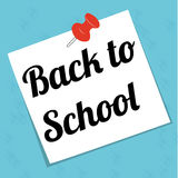 Back to school. Paper on abstract blue background Stock Images
