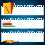 Back to School paper banners Royalty Free Stock Image