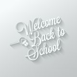 Back to school paper cut lettering background Royalty Free Stock Photo